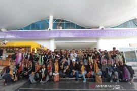 Peserta Siswa Mengenal Nusantara Jatim tiba di Gorontalo