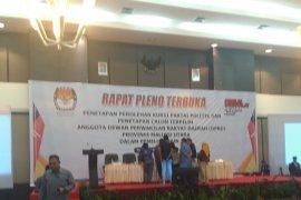 KPU Malut umumkan 45 caleg terpilih 2019