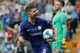 Jorginho, Emerson, dan Kante dipuji Lampard walau kalah