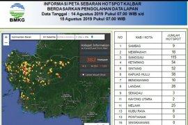 404 titik panas terpantau di wilayah Kalimantan Barat