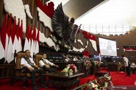 Presiden Jokowi tinjau persiapan pelaksanaan Sidang Tahunan MPR