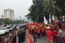 Demo buruh warnai Pidato Kenegaraan Presiden di Gedung MPR