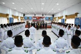 Bupati Aceh tengah kukuhkan 77 Paskibra HUT  ke-74 RI