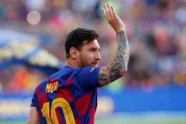 Akibat cedera betis, Messi tidak turun saat Barcelona lawan Bilbao