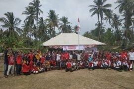 PMI dan korban tsunami Banten gelar perayaan Hari Kemerdekaan RI