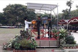 Dandim 1002 Barabai menjadi Inspektur upacara penurunan bendera