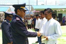 257 napi kelas II B Tanjungpura Langkat peroleh remisi di Hari Kemerdekaan