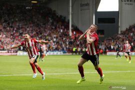 Sheffield United mendekat ke Arsenal usai cukur Burnley 3-0