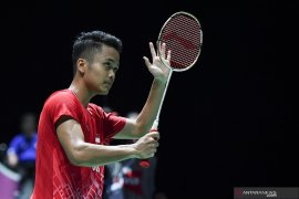 Ginting gagal pertahankan gelar setelah ditundukkan Momota di final China Open