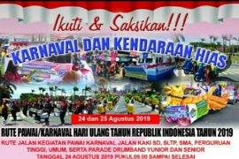 Pawai dan karnaval pembangunan berlangsung 24-25 Agustus 2019