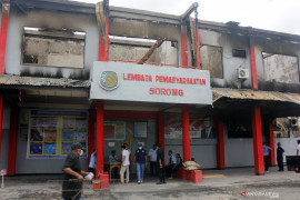 Kebakaran Lapas Papua Barat, Polisi tetapkan seorang napi sebagai tersangka