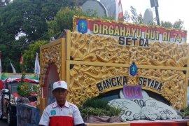 219 peserta ramaikan pawai Karnaval HUT ke-74 RI di Bangka