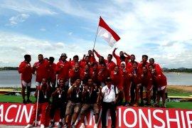 Tim dragon boat Indonesia bawa pulang status juara dunia