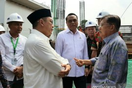 Wapres JK tinjau proses pembangunan UIII, Kantor DMI dan Masjid Istiqlal