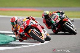 Pole position di kualifikasi GP Inggris, Marquez sebut dirinya terbantu oleh Rossi