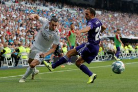 Valladolid tahan imbang Madrid 1-1 di Bernabeu