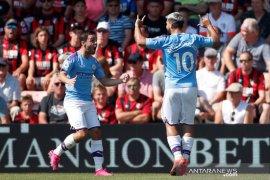 Manchester City menang 3-1  di kandang Bournemouth