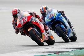 Marquez tak senang kecolongan pada tikungan terakhir di Silverstone