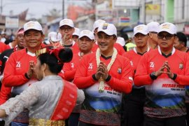 """2.000 pegowes meriahkan """"Merah Putih Toba Bike"""" di Samosir"""
