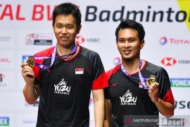 Ganda putra Ahsan/Hendra juara dunia 2019