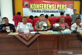 Sembilan tersangka narkoba diringkus Polres Pekalongan
