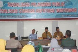 Kominfo Aceh Timur sosialisasi standar kompetensi wartawan