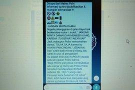 """Polisi bantah soal pesan berantai informasi """"biaya tilang terbaru"""""""