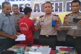 Polres Aceh Barat tangkap seorang spesialis jambret di Meulaboh