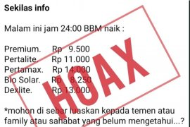 Pertamina pastikan  informasi kenaikan harga BBM hoaks