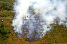Kebakaran lahan dekati komplek perkantoran Pemprov Kalsel