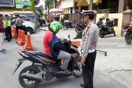 Hari pertama Operasi Patuh Toba, ribuan  kendaraan  bermotor ditilang