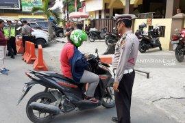 Hari pertama razia di Sumut, 1.366 kendaraan ditilang