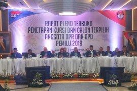 KPU tetapkan 9 Parpol lolos ke parlemen, partai baru gagal
