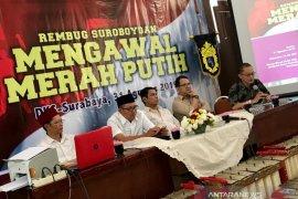 Kawal merah putih, sejumlah elemen di Surabaya sampaikan pernyataan sikap