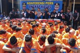 93 pengedar narkoba di Sidoarjo dibekuk