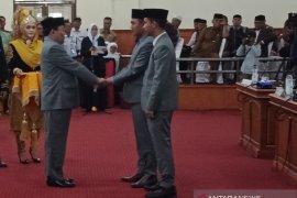 Jhonniadi dan Dedi Irmayanda pimpinan sementara DPRK Nagan Raya