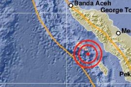 Sinabang digucang gempa magnitudo 5.0 tidak berpotensi tsunami