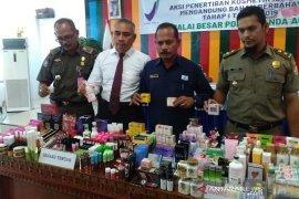 BBPOM Banda Aceh sita 2.542 kosmetik  ilegal