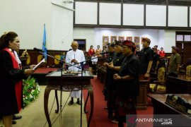 Pimpinan DPRD Kabupaten Gianyar diambil sumpah jabatan