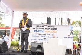 Gubernur Jawa Barat teken prasasti dimulainya pembangunan tiga jalan layang
