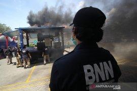 Narkoba total 24,45 kilogram asal Malaysia dimusnahkan Bea Cukai