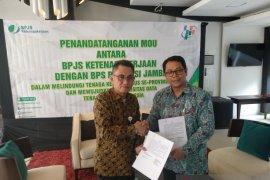 Lindungi tenaga kerja sensus, BPJS Ketenagakerjaan dan BPS tandatangani MoU