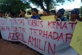 Mahasiswa demo Kantor Kejari Aceh Barat desak usut kematian pasien salah suntik di RSUD