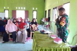 Babinsa sosialisasikan pencegahan karhutla di Gorontalo Utara
