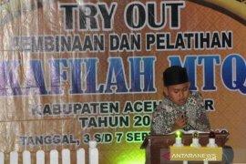 Jelang MTQ Aceh, Pemkab Aceh Timur gelar uji kemampuan kafilah