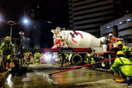 DKI Jakarta gandeng Semen Indonesia perbaiki jalur transjakarta dengan beton cepat kering