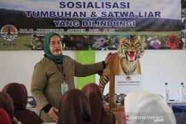 BKSDA Aceh edukasi jenis tumbuhan dan satwa dilindung kepada pelajar