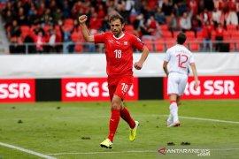 Swiss lumat Gibraltar, Denmark ditahan imbang Georgia di grup G kualifikasi Piala Eropa