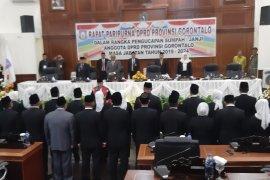 45 anggota DPRD Provinsi Gorontalo periode 2019-2024 dilantik
