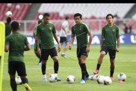 Latihan Timnas Indonesia jelang hadapi Thailand